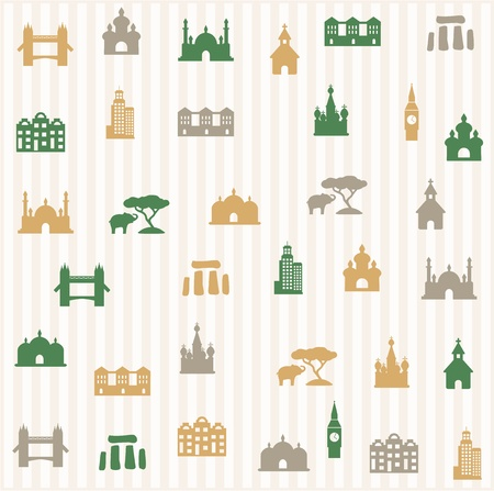 Travel seamless pattern Vector