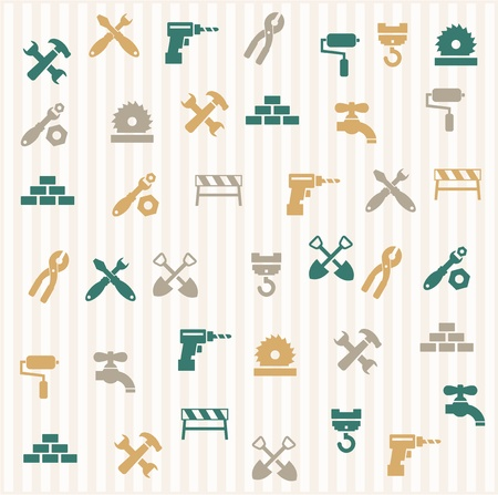 tools construction: Repairing seamless pattern Illustration
