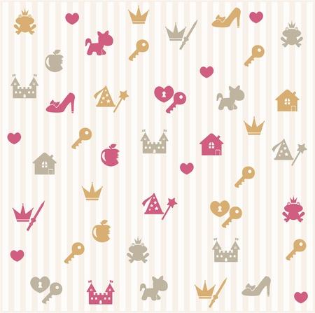 princess frog: Princess seamless pattern