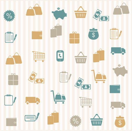 Shopping seamless pattern Stock Vector - 16968773