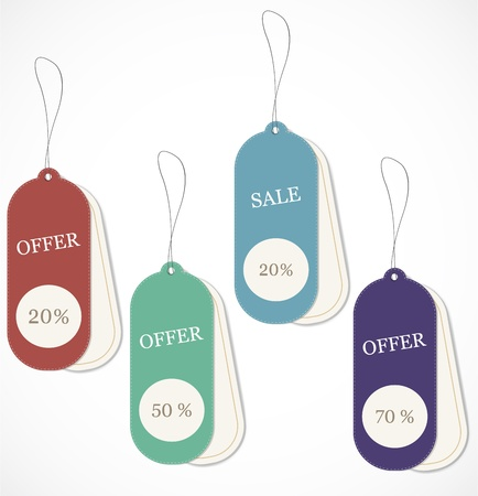 low prices: Discount tags Illustration
