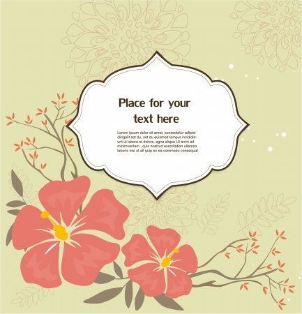 Floral greeting card Stock Vector - 17019969