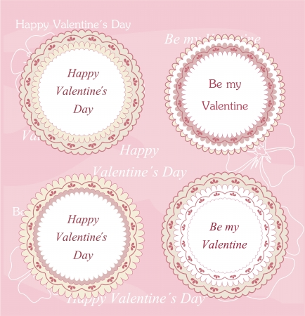 valentine s card: Discount tags Illustration