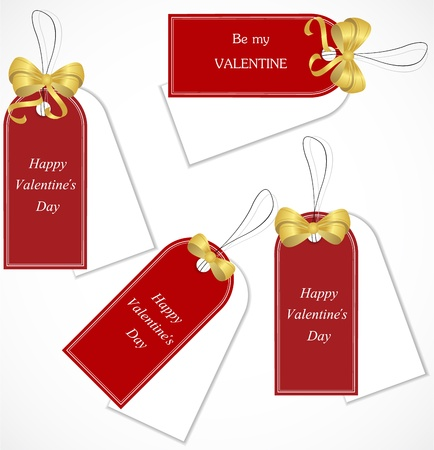 valentine s day: Discount tags Illustration