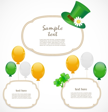 St  patricks day frames Vector