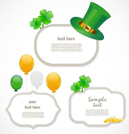 St  patricks day frames Stock Vector - 17170666