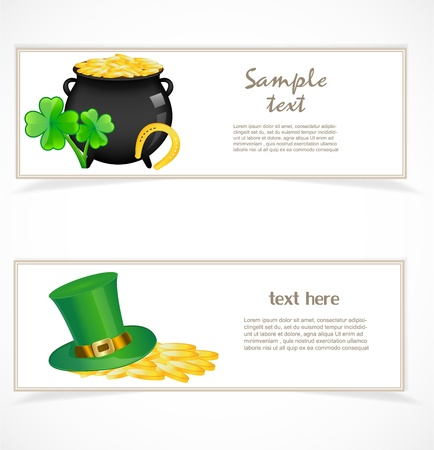 St  patricks day banners Stock Vector - 17170650