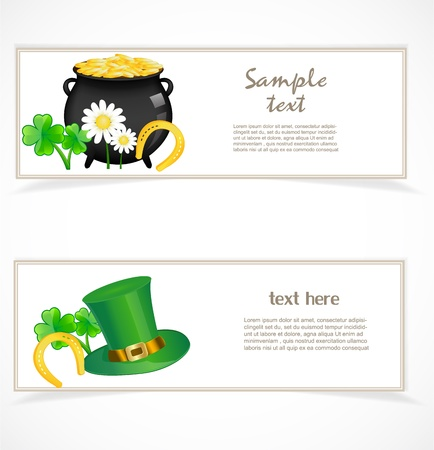 St  patricks day banners Stock Vector - 17170660