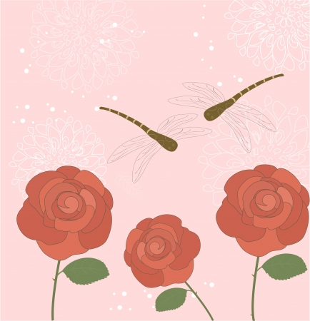 Floral greeting card Stock Vector - 17170509
