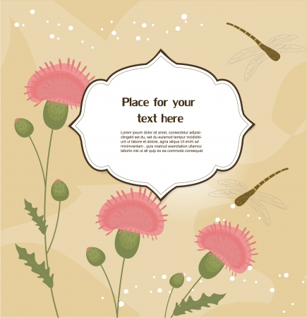 thistle: Floral greeting card