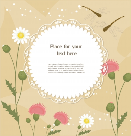 thistles: Floral greeting card