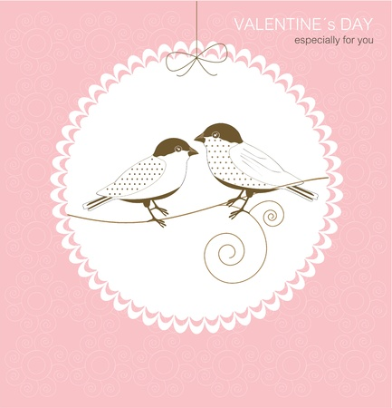 Greeting card with birds Stock Vector - 17323163