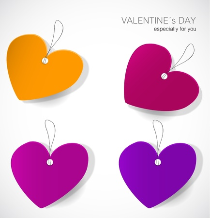 Valentine's day tags Stock Vector - 17323186