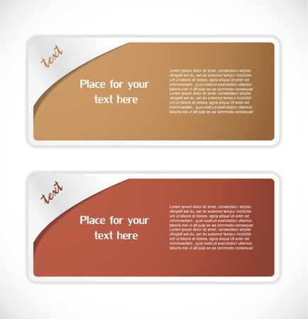 Set of labels Stock Vector - 17323161