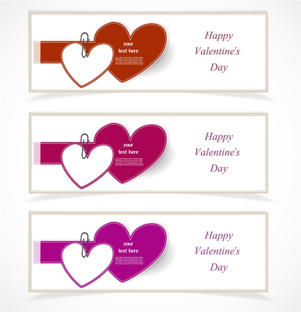 Valentine s Day banners Stock Vector - 17323162