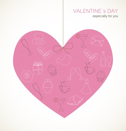 Valentine s Day card Vector