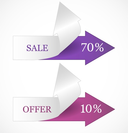 Discount tags Stock Vector - 17323189