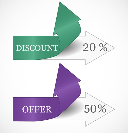 discount banner: Discount tags Illustration