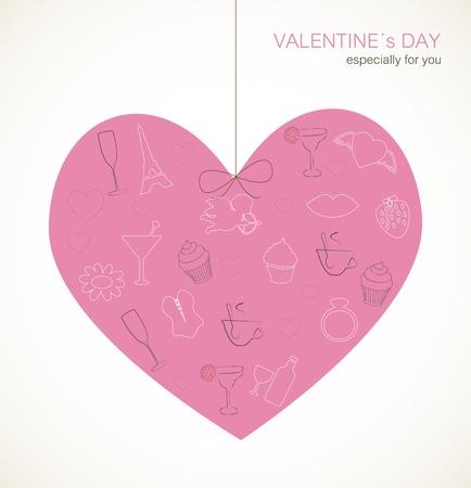 Valentine's Day-kaart Stockfoto - 17323191