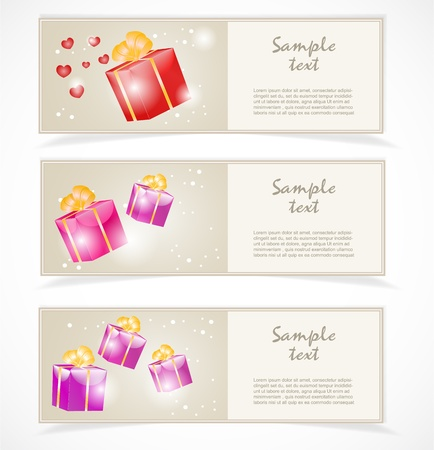 Banners with gift boxes Stock Vector - 17381330