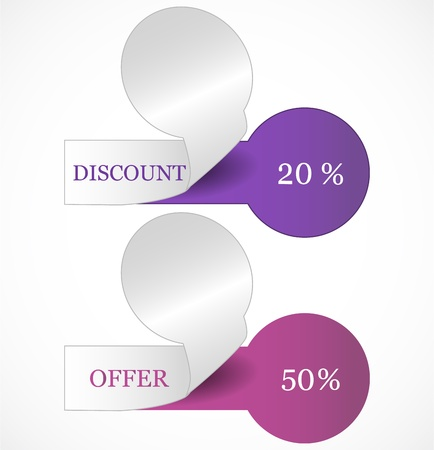 Discount tags Stock Vector - 17446462