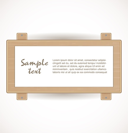 Wooden signboard Stock Vector - 17446578