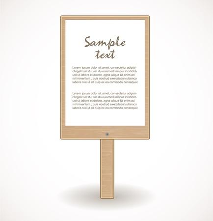 Wooden signboard Stock Vector - 17446602