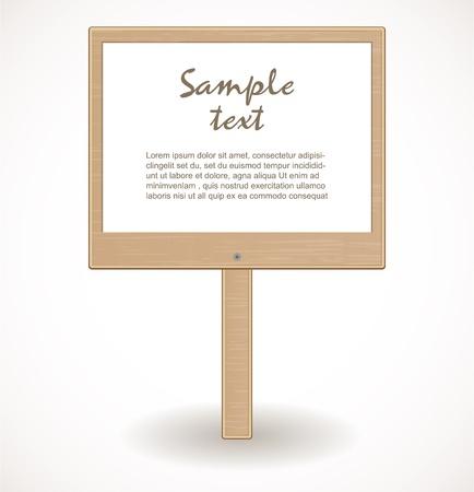 Wooden signboard Stock Vector - 17446585
