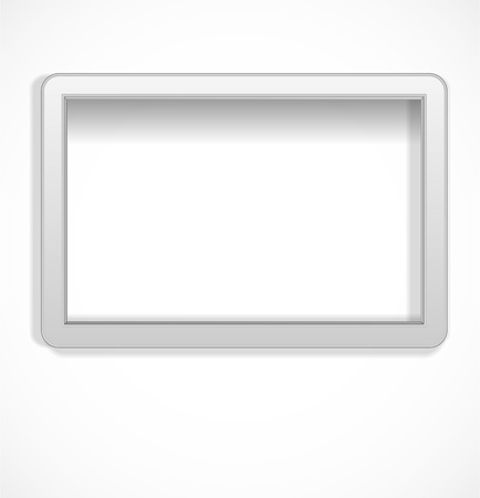 White empty frame Stock Vector - 17446609