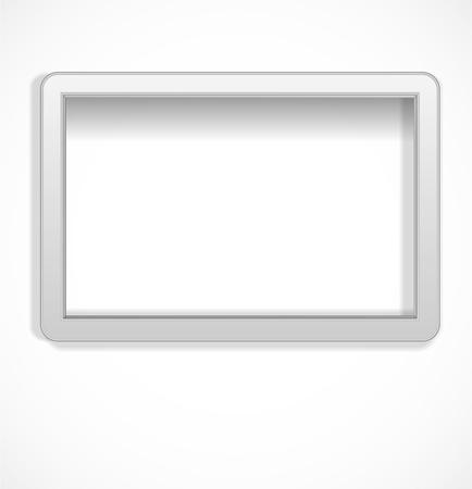 White empty frame Stock Vector - 17446609