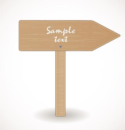 Wooden signboard Stock Vector - 17446576