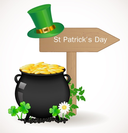 St  Patrick day background Stock Vector - 17446616