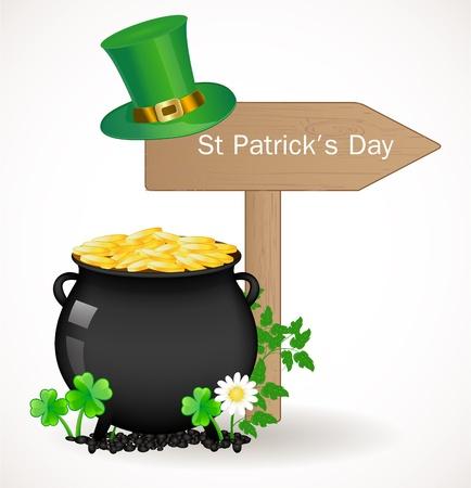 st: St  Patrick day background Illustration