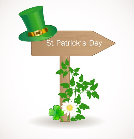 lucky day: St  Patrick day background Illustration