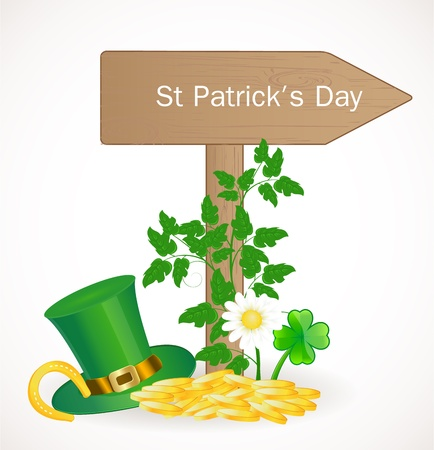 St  Patrick day background Stock Vector - 17446617
