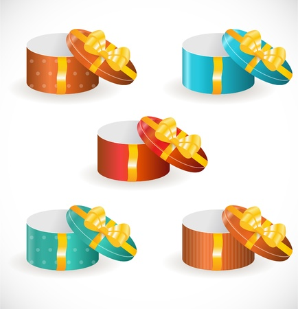 pretty s shiny: Gift boxes with gold ribbons
