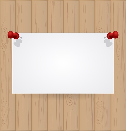 note paper background: Wooden background with white note paper