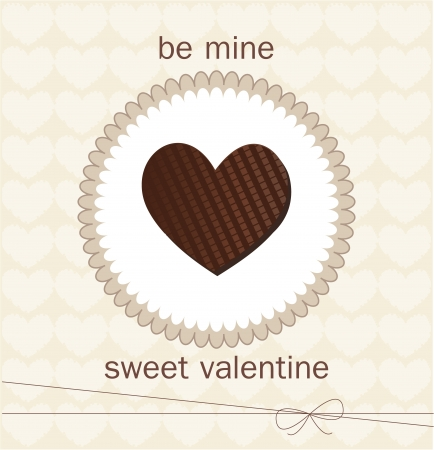 Valentine s Day card with chocolate Stock Vector - 17499189