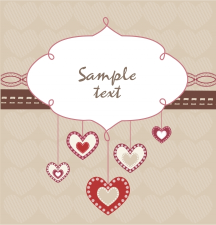 Valentine s Day card Stock Vector - 17499206