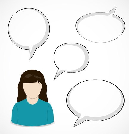 Woman and speech bubbles Stock Vector - 17598860