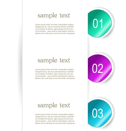 Set of paper bookmarker or stickers Stock Vector - 17598954