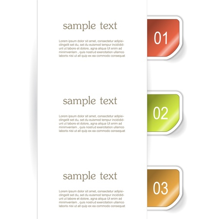 Set of paper bookmarker or stickers Stock Vector - 17598968