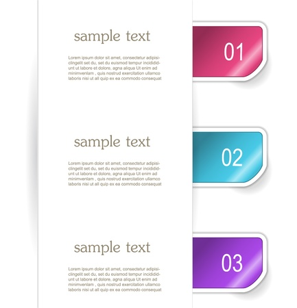 Set of paper bookmarker or stickers Stock Vector - 17598967