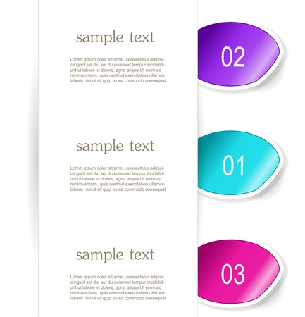 Set of paper bookmarker or stickers Stock Vector - 17598962