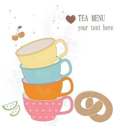 Tea menu Stock Vector - 17694761