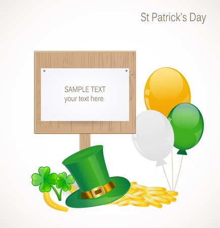 St  Patrick day background Stock Vector - 17695937