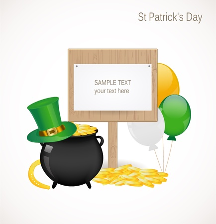 St. Patrick day background Stock Vector - 17695936
