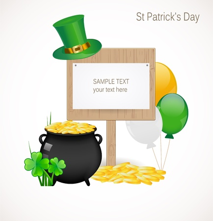 St. Patrick day background Stock Vector - 17695940