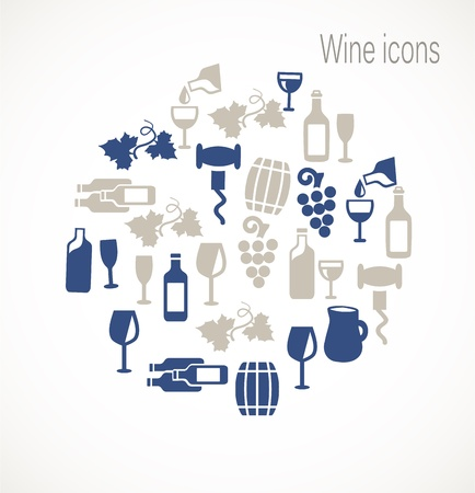 wine barrel: Wine icons