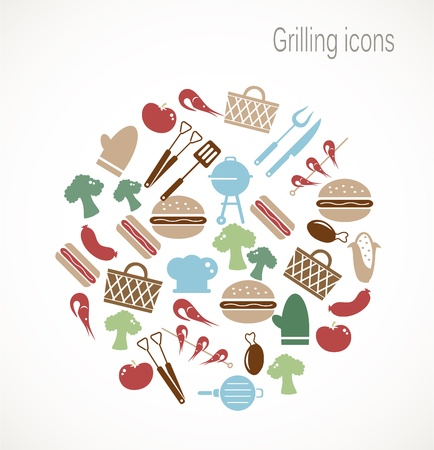 activity icon: Grilling icons
